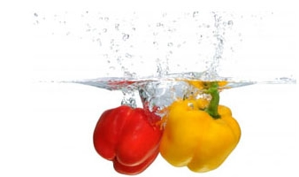 Red and yellow Pepper Splash